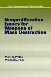 Nonproliferation Issues For Weapons of Mass Destruction by Mark A. Prelas
