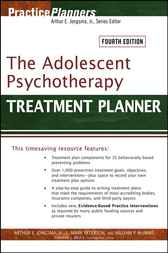 The Adolescent Psychotherapy Treatment Planner by Arthur E. Jongsma
