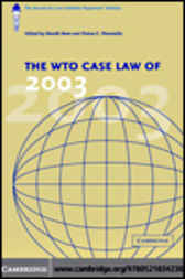 The WTO Case Law of 2003 by Henrik Horn