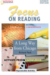 A Long Way from Chicago Reading Guide by Saddleback Educational Publishing