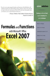 Formulas and Functions with Microsoft Office Excel 2007 by Paul McFedries