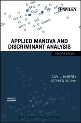 Applied MANOVA and Discriminant Analysis by Carl J. Huberty