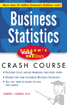Download Ebook Schaum's Easy Outline of Busines Statistics by L. J. Kazmier Pdf