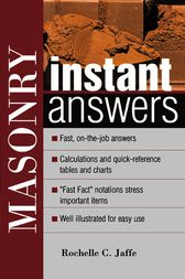 Masonry Instant Answers by Rochelle Jaffe