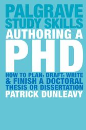 Authoring a PhD Thesis by Patrick Dunleavy