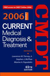Current Medical Diagnosis & Treatment, 2006 by Lawrence Tierney