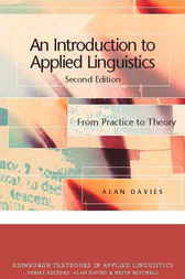An Introduction to Applied Linguistics by Alan Davies