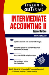 Schaum's Outline of Intermediate Accounting II, Second Edition by Baruch Englard