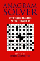 Anagram Solver by Bloomsbury Publishing