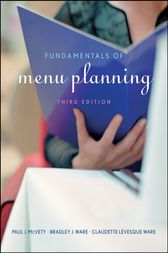 Fundamentals of Menu Planning by Paul J. McVety