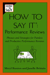 How To Say It Performance Reviews by Meryl Runion