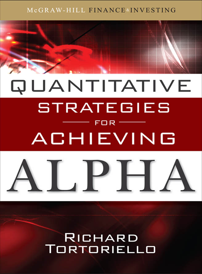 Download Ebook Quantitative Strategies for Achieving Alpha by Richard Tortoriello Pdf