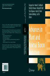 Advances in Plant and Animal Boron Nutrition by Fangsen Xu