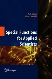 Special Functions for Applied Scientists by A.M. Mathai