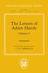 The Letters of Adam Marsh by Hugh Lawrence