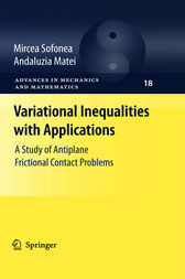 Variational Inequalities with Applications: A Study of Antiplane Frictional Contact Problems