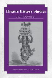 Theatre History Studies 2007, Vol. 27 by Rhona Justice-Malloy
