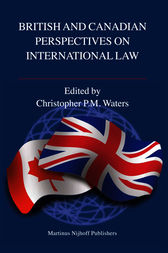 British and Canadian Perspectives on International Law by Christopher Waters