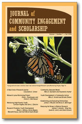 Journal of Community Engagement and Scholarship, Vol 1 No 1: Fall 2008