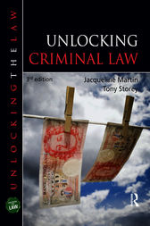 Unlocking Criminal Law, Third Edition by Jacqueline Martin