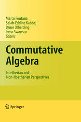 Commutative Algebra by Marco Fontana