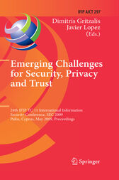 Emerging Challenges for Security, Privacy and Trust by Dimitris Gritzalis