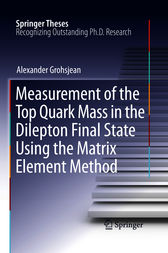 Measurement of the Top Quark Mass in the Dilepton Final State Using the Matrix Element Method by Alexander Grohsjean