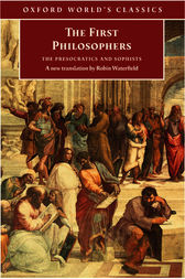 The First Philosophers by Robin Waterfield