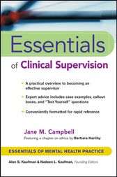 Essentials of Clinical Supervision by Jane M. Campbell