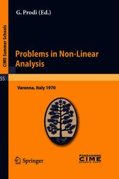Problems in Non-Linear Analysis by G. Prodi