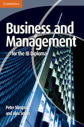 Business and Management for the IB Diploma by Peter Stimpson