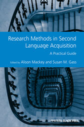 Research Methods in Second Language Acquisition by Alison Mackey