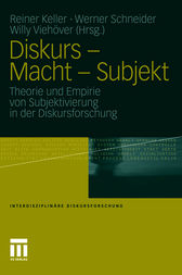 Diskurs - Macht - Subjekt by Reiner Keller