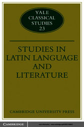 Studies in Latin Language and Literature by Thomas Cole