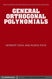 General Orthogonal Polynomials by Herbert Stahl