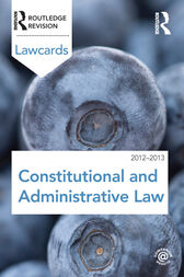 Constitutional and Administrative Lawcards 2012-2013 by Routledge