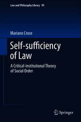 Self-sufficiency of Law by Mariano Croce