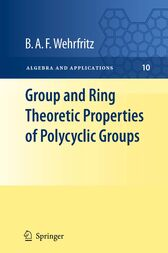 Group and Ring Theoretic Properties of Polycyclic Groups by B.A.F. Wehrfritz