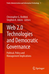 Web 2.0 Technologies and Democratic Governance by Christopher G. Reddick