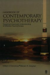 Handbook of Contemporary Psychotherapy by William O'Donohue