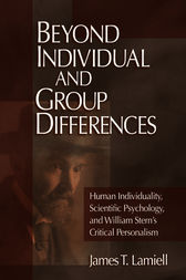 Beyond Individual and Group Differences by James T. Lamiell