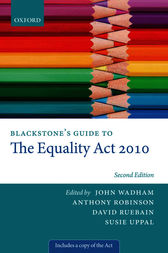 Blackstone's Guide to the Equality Act 2010 by John Wadham