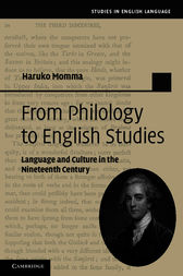 From Philology to English Studies by Haruko Momma