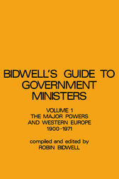 Guide to Government Ministers by R.L. Bidwell
