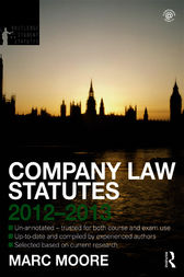 Company Law Statutes 2012-2013 by Marc Moore