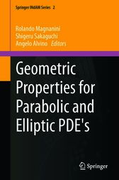 Geometric Properties for Parabolic and Elliptic PDE's by Rolando Magnanini