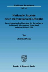Nationale Aspekte einer transnationalen Disziplin. by Christian Dessau