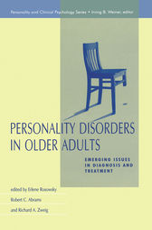 Personality Disorders in Older Adults by Erlene Rosowsky