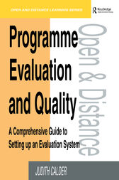 Programme Evaluation and Quality by Judith Calder