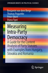 Measuring Intra-Party Democracy by Benjamin von dem Berge